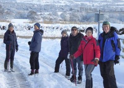 Walkers in snow December 2017