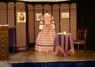 Stage before 'Mrs Beeton' talk